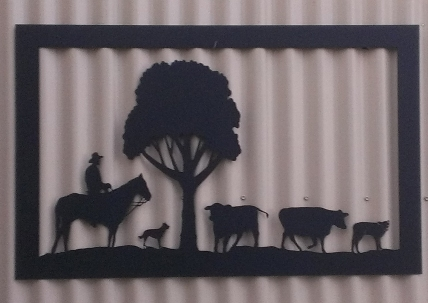 Metal Art - Farm Scene Image