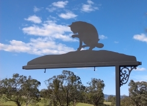Metal Art - Sign Post Cat