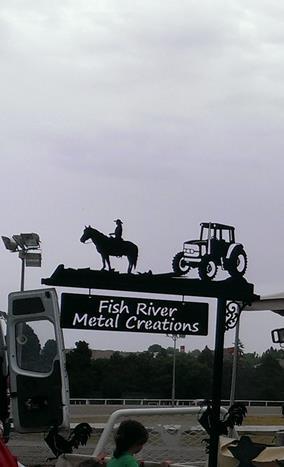 metal art sign posts fish river metal creations