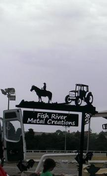 Metal Art - Tractor Horse Sign Post